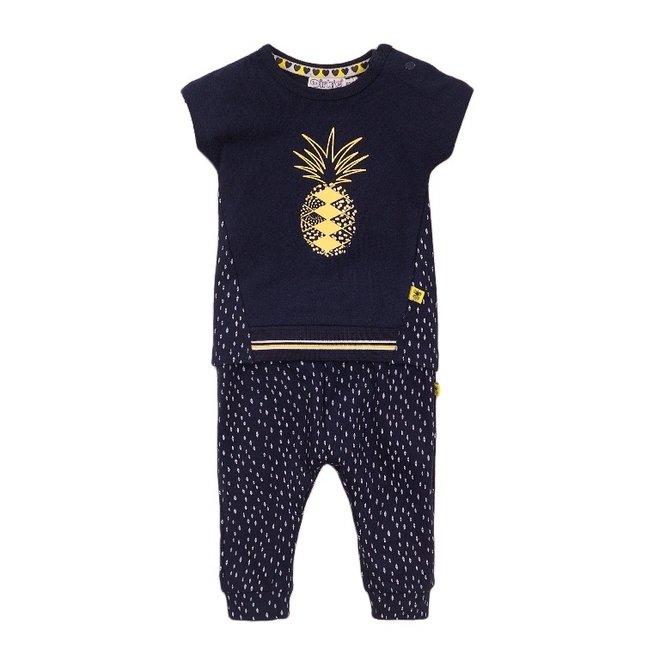 Dirkje Mädchen Baby 2-teiliges Set blau Ananas