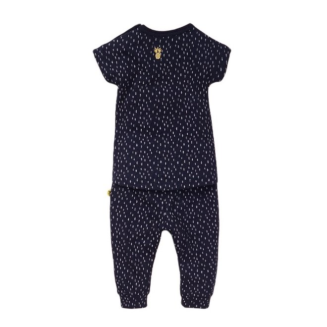Dirkje girls baby 2-piece set blue pineapple