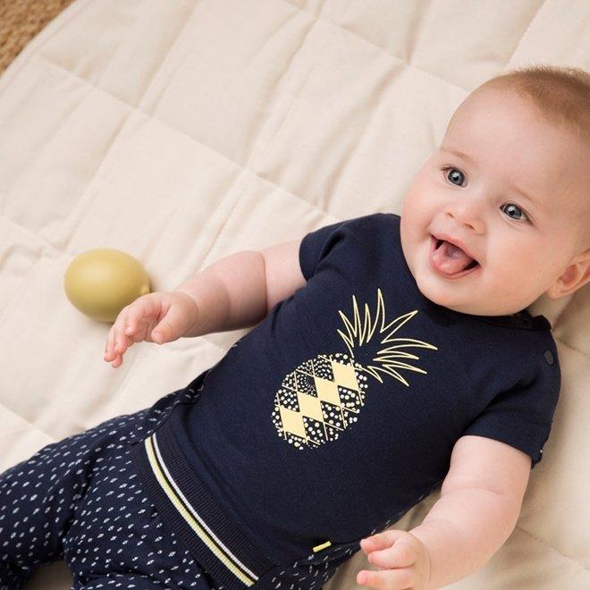 Dirkje meisjes baby 2-delige set blauwe ananas