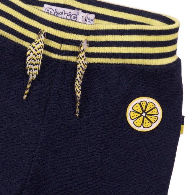 Dirkje Mädchen Hose blau gelb