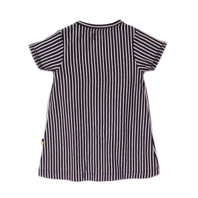 Dirkje girls dress blue white stripe
