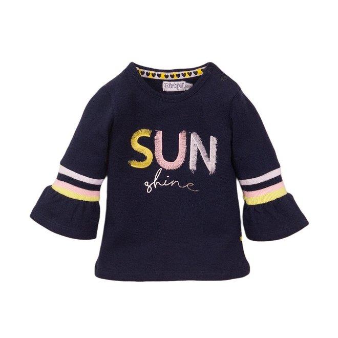 Dirkje meisjes shirt blauw sun