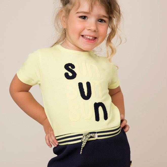 Dirkje girls dress yellow blue sun