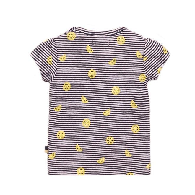 Dirkje girls T-shirt blue white stripe