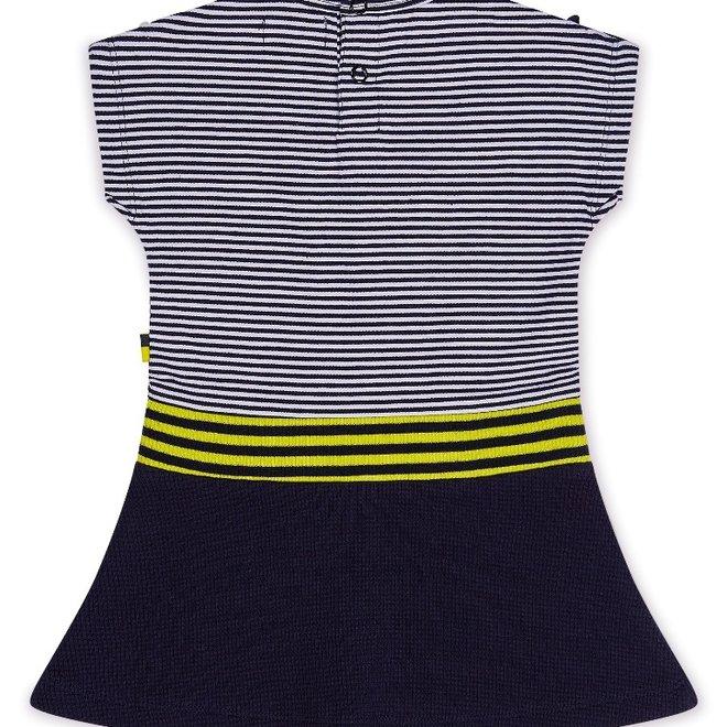 Dirkje meisjes jurk blauw wit geel