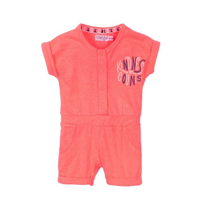 Dirkje girls baby jumpsuit neon pink