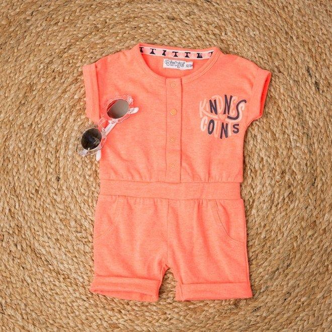 Dirkje meisjes baby jumpsuit neon roze