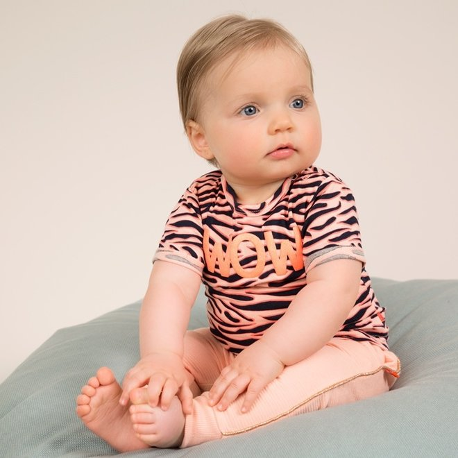 Dirkje girls T-shirt pink tiger stripe
