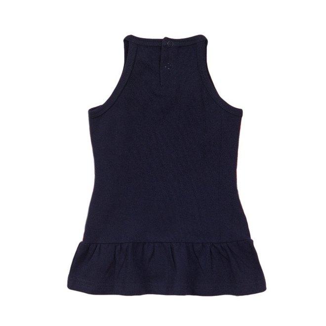 Dirkje meisjes jurk blauw mouwloos