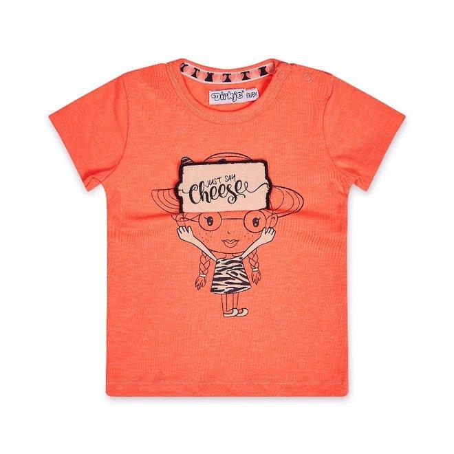 Dirkje Mädchen T-shirt neon pink