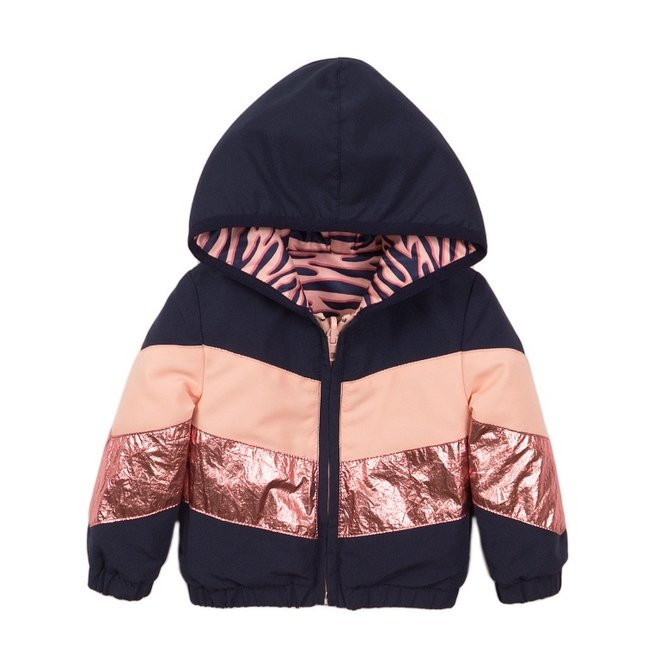 Dirkje girls jacket blue pink reversible