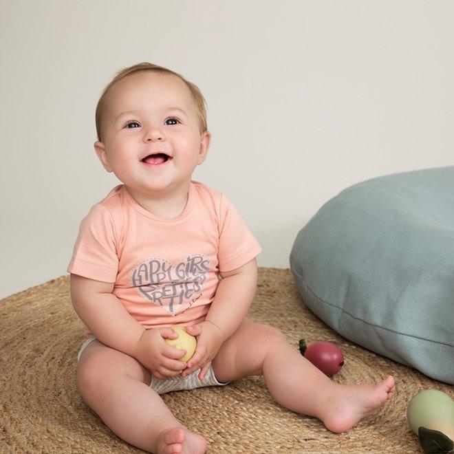 Dirkje Mädchen Baby 2-teiliges Set mit Shorts rosa grau
