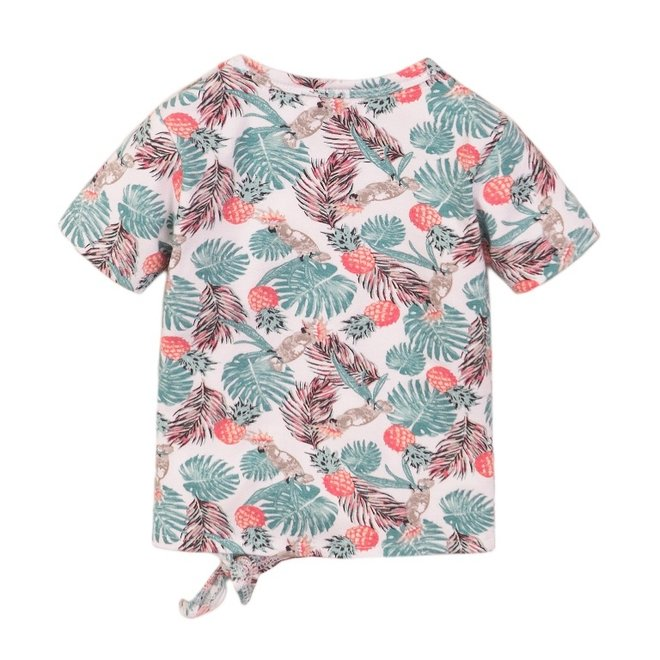 Dirkje girls T-shirt white cockatoo