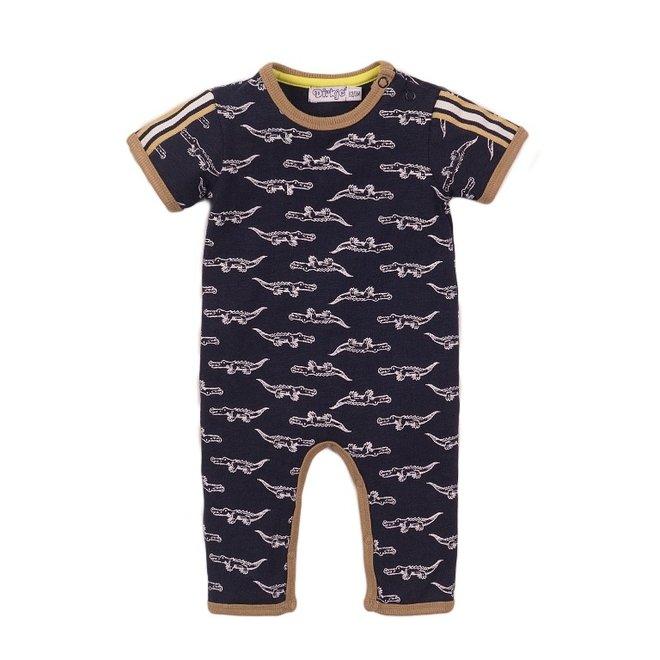 Dirkje jongens baby pakje blauw krokodil