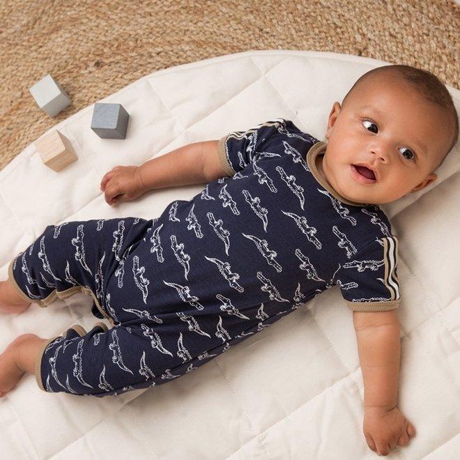 Dirkje boys baby suit blue crocodile
