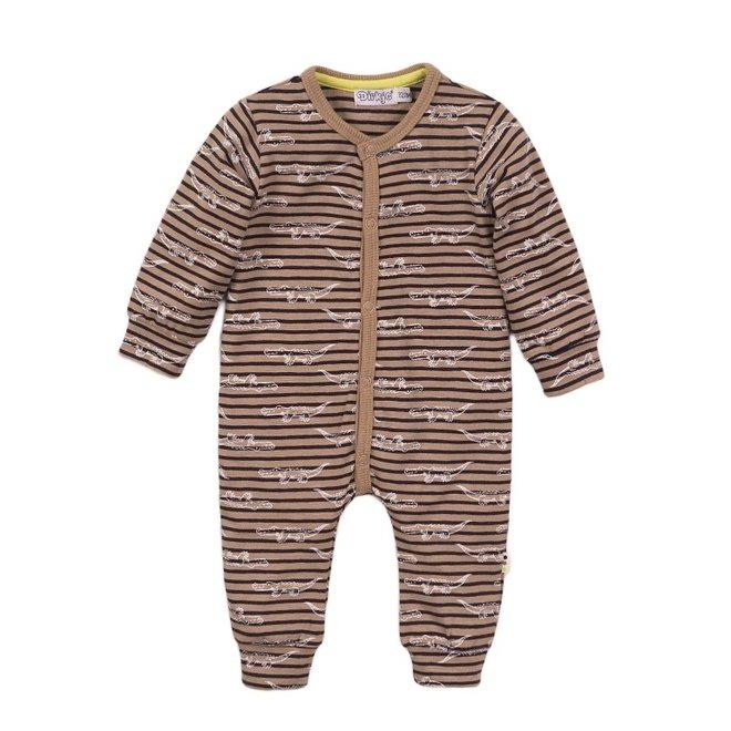 Dirkje boys baby suit sand crocodile