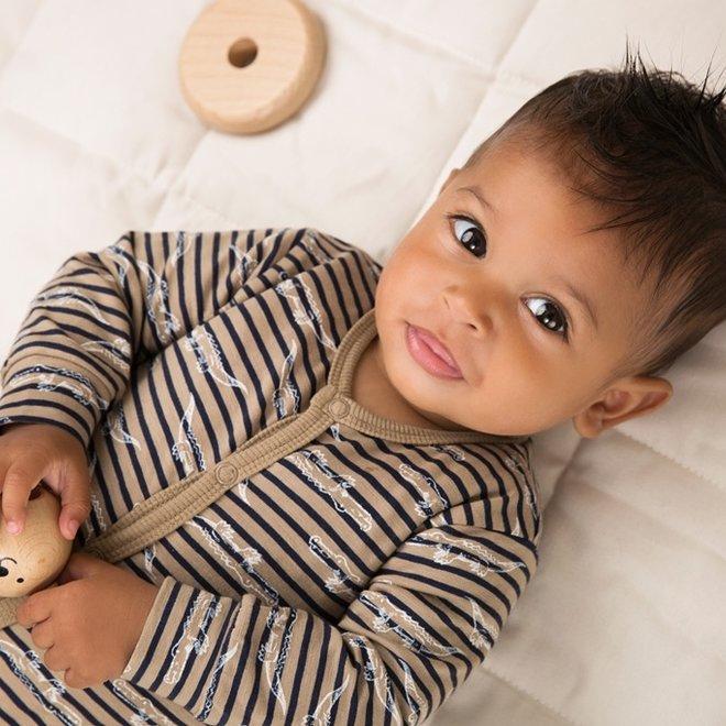 Dirkje Jungen Baby Anzug Sand Krokodil