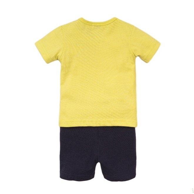 Dirkje jongens baby 2-delige set met short geel