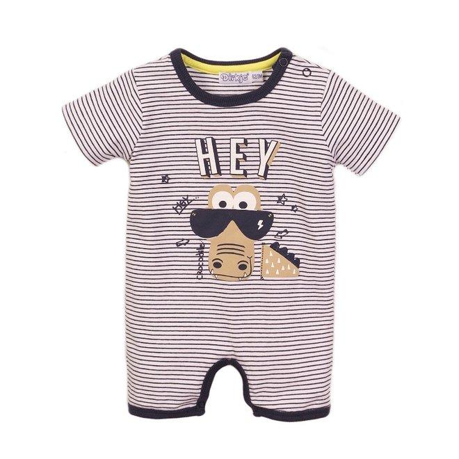 Dirkje Jungen Baby Outfit weiß Giraffe