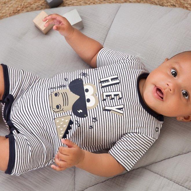 Dirkje boys baby outfit white giraffe