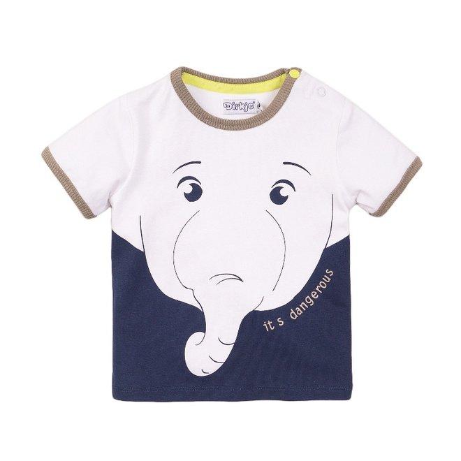 Dirkje Jungen T-shirt weißer Elefant