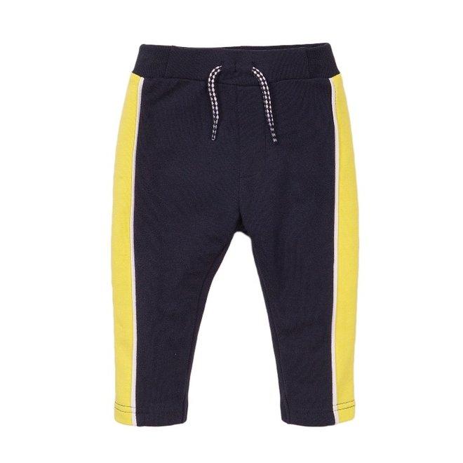 Dirkje jongens joggingbroek blauw geel