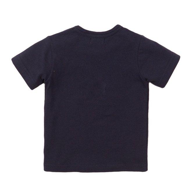 Dirkje jongens T-shirt blauw krokodil