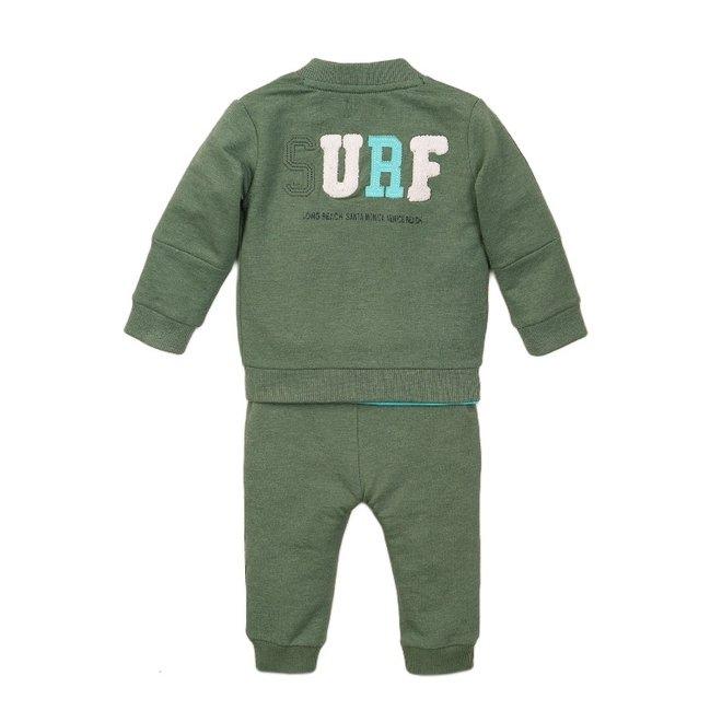 Dirkje jongens baby 3-delige set faded groen aqua