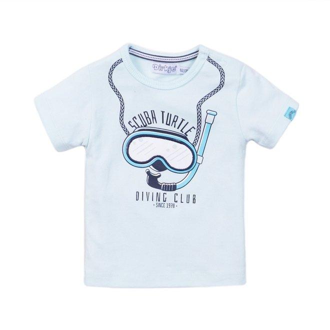 Dirkje jongens T-shirt licht aqua duikbril