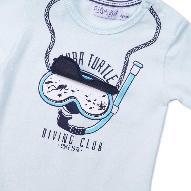 Dirkje Jungen T-shirt hell aqua