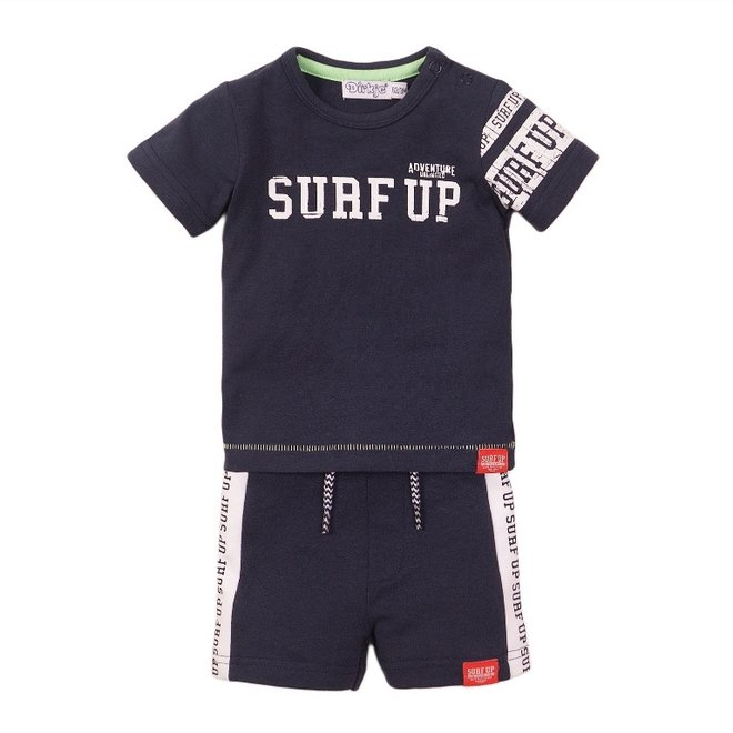 Dirkje boys baby 2 piece set with shorts blue