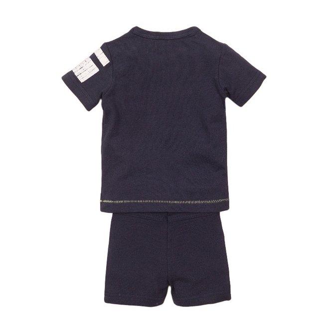 Dirkje Jungen Baby 2 Stück Set mit Shorts blau