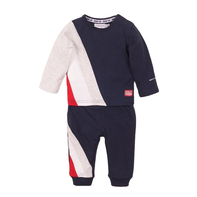 Dirkje boys baby 2 piece set with trousers blue