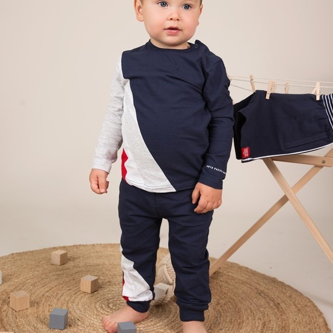 Dirkje Jungen Baby 2 Stück Set mit Hose blau