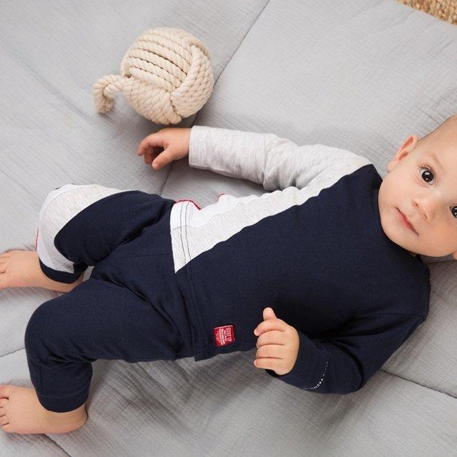 Dirkje jongens baby 2-delige set met broek blauw