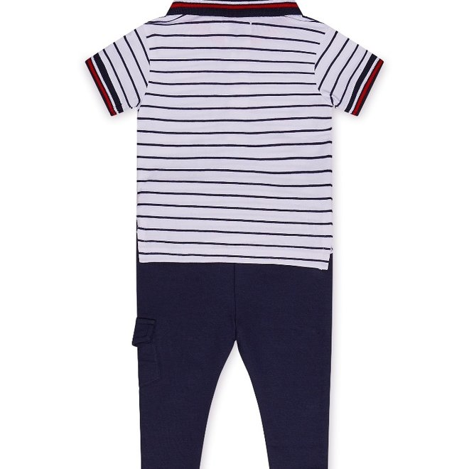 Dirkje boys baby 2-piece set with trousers and polo shirt