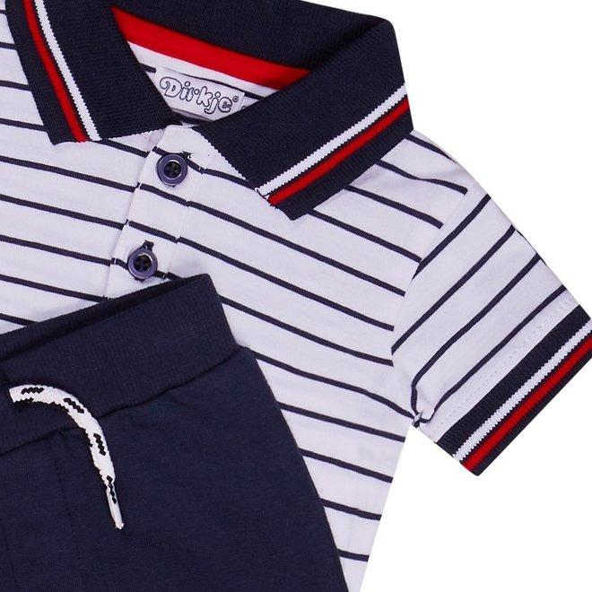 Dirkje Jungen Baby 2-teiliges Set mit Hose und Poloshirt