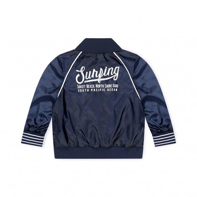 Dirkje boys jacket blue reversible