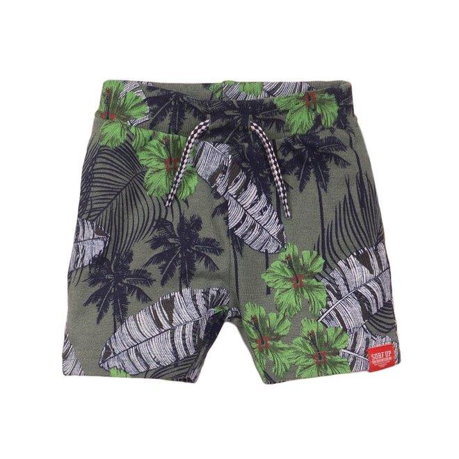 Dirkje jongens short faded groen palm