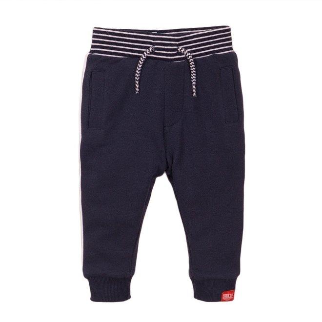 Dirkje jongens joggingbroek blauw wit