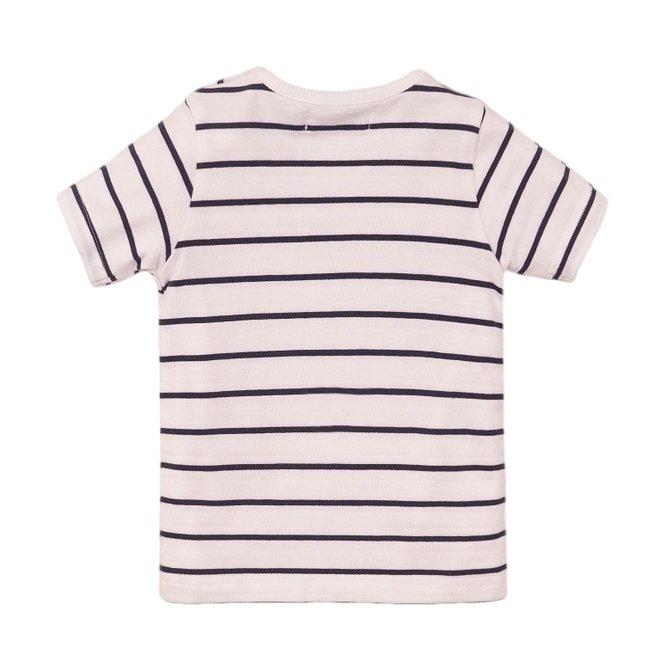 Dirkje Jungen T-Shirt weiß gestreift