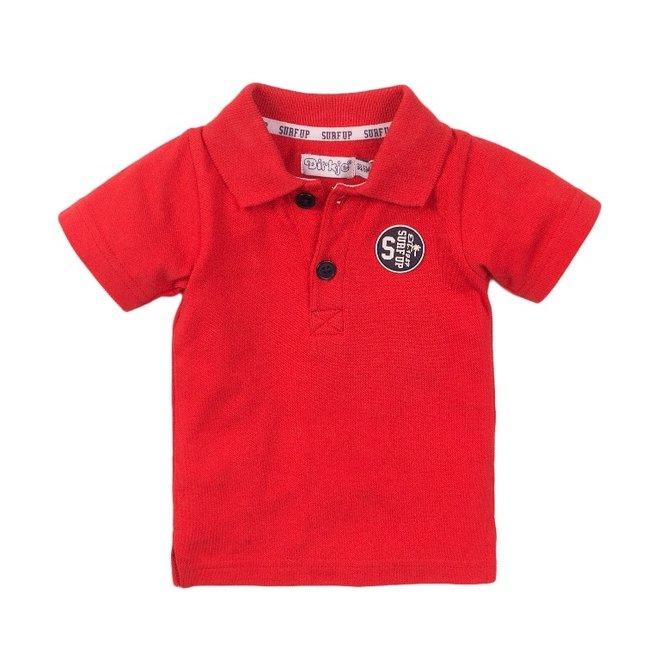 Dirkje Jungen Poloshirt rot