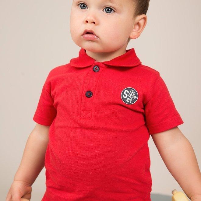 Dirkje jongens polo shirt rood
