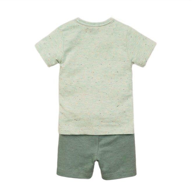 Dirkje jongens baby 2-delige set met short licht groen