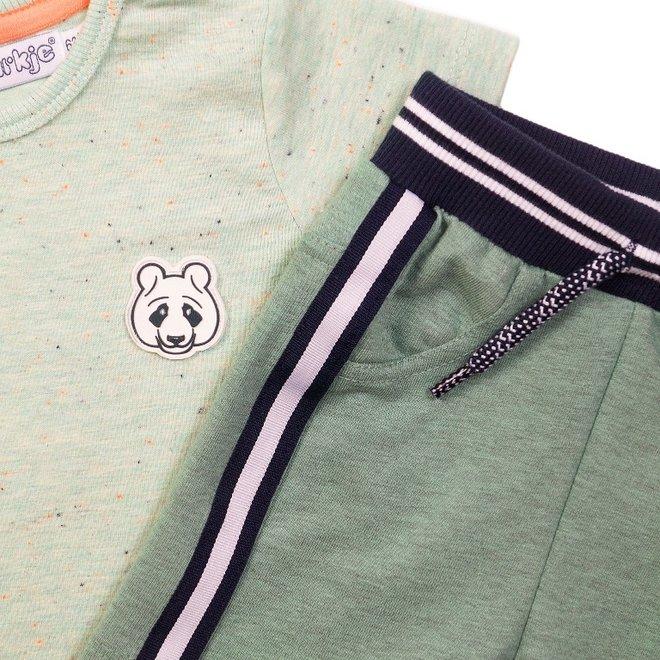 Dirkje boys baby 2 piece set with shorts light green