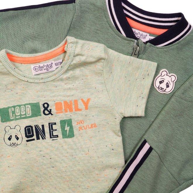 Dirkje Jungen Baby 3 Stück Set verblasst grün blau