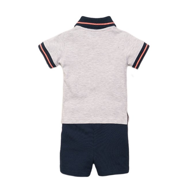 Dirkje boys baby 2 piece set with shorts light grey