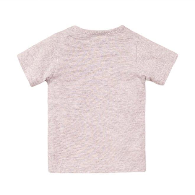 Dirkje jongens T-shirt licht grijs panda
