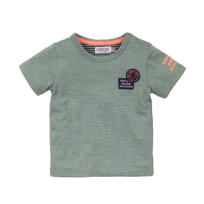 Dirkje jongens T-shirt sage