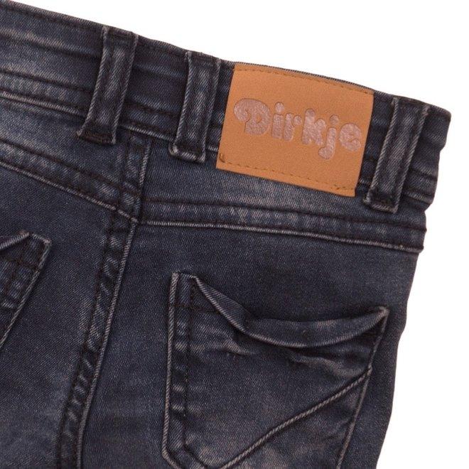 Dirkje jongens jeans short donker grijs